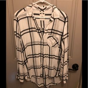 AMERICAN EAGLE button up blouse size LARGE